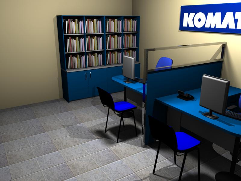 Trabajos realizados komatsu ebano muebles muebles en for Oficina genesis