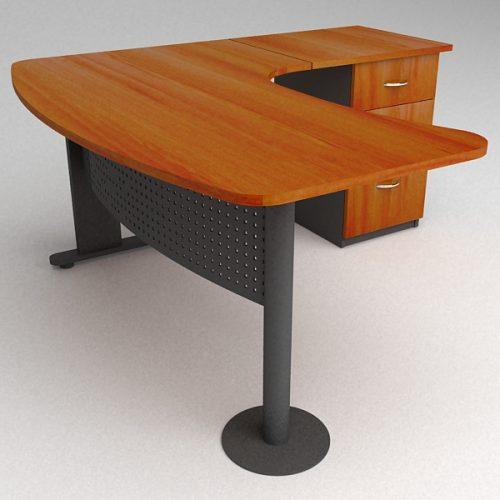 L nea muebles oficina estaciones de trabajo ebano for Muebles de ebano