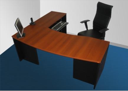 Línea Muebles Oficina > Estaciones de trabajo  Ebano ...
