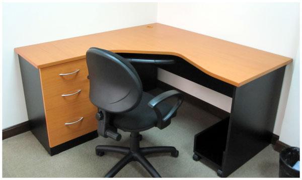 L nea muebles oficina estaciones de trabajo ebano for Muebles de oficina en l