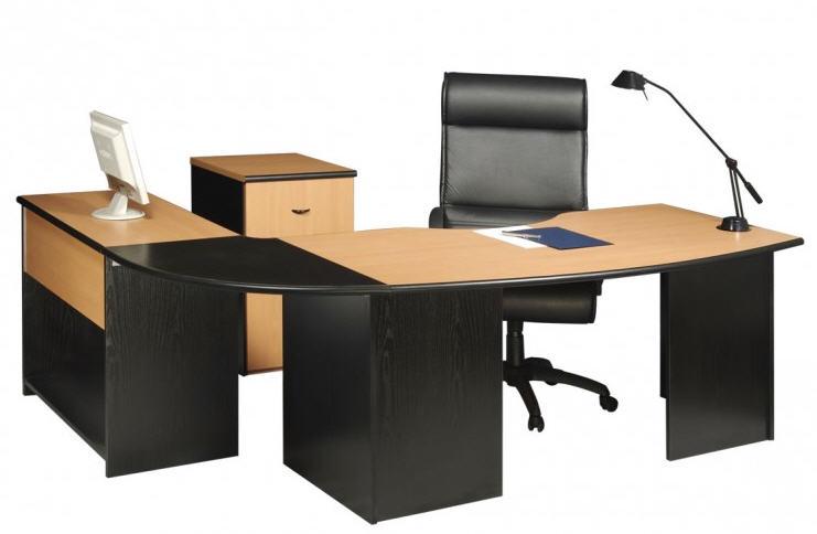 L nea muebles oficina estaciones de trabajo ebano for Muebles de oficina blancos