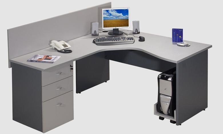 L nea muebles oficina estaciones de trabajo ebano for Muebles para computadora office depot