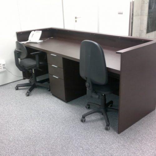 L nea muebles oficina mueble de recepci n ebano for Muebles de oficina chile