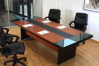 L nea muebles oficina mesa de reuni n ebano muebles for Mesas de oficina precios