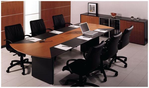 L nea muebles oficina mesa de reuni n ebano muebles for Lista de muebles de oficina